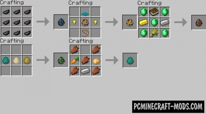 Craftable Spawn Eggs Data Pack For Minecraft 1.14.3
