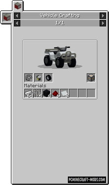 Just Enough Vehicles - GUI Mod For Minecraft 1.16.5, 1.12.2