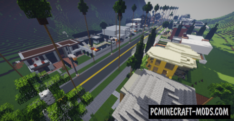 Modern Mountain Neighborhood Map For Minecraft