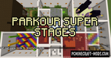 Parkour Super Stages Map For Minecraft