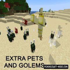 Extra Pets and Golems - Friendly Mobs Mod For Minecraft 1.14.4