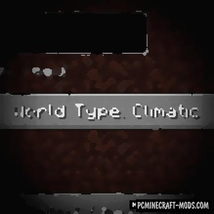 Climatic World Type - New Surv Biomes MC Mod 1.15, 1.14.4