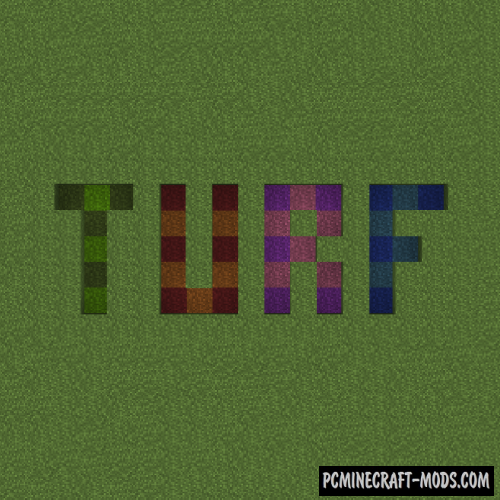 Turf - New Decorative Blocks Mod For Minecraft 1.14.4