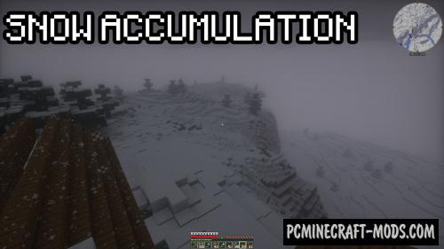 Snow Accumulation - Realistic Mod For MC 1.15.2, 1.14.4