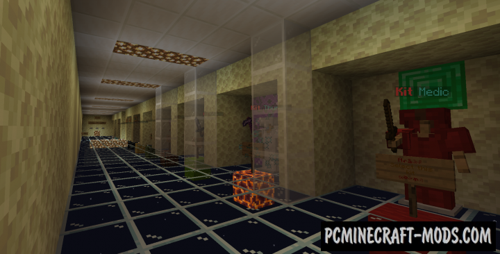 4-Arena Kit PvE Map For Minecraft