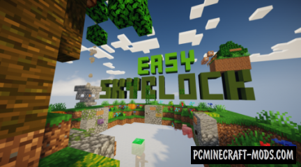 Easy SkyBlock Map For Minecraft