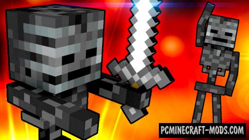 Wither Skeleton Tweaks - New Weapons Mod 1.16.3, 1.15.2