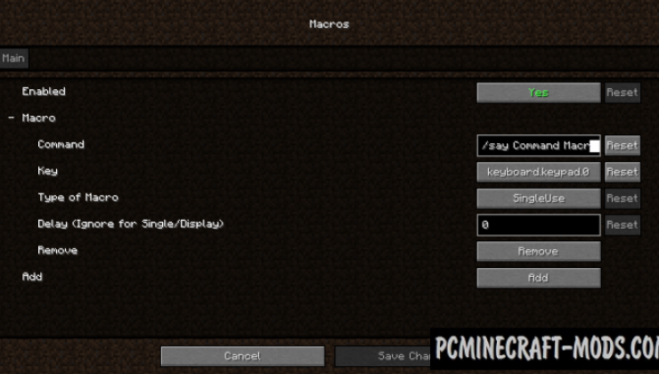 Command Macros - GUI Tweak Mod For MC 1.16.5, 1.15.2