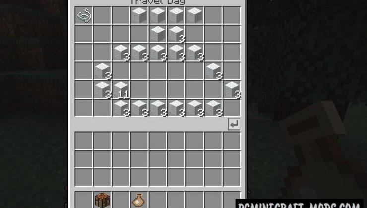 Travel Bag - Tool Mod For Minecraft 1.15.2, 1.14.4