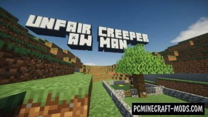 Unfair Creeper! Aw man! Map For Minecraft