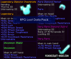 RPG Loot Data Pack For Minecraft 1.14.4, 1.14