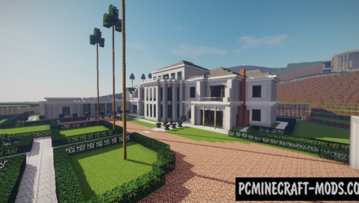 Famous Mansion Beverly Hills Map For Minecraft