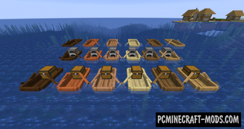 Extra Boats - Vanilla Vehicles Mod Minecraft 1.16.5, 1.16.4