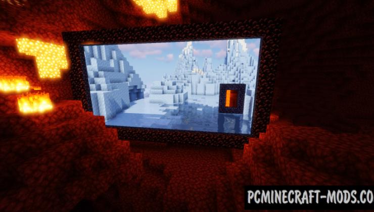 Immersive Portals - Realistic Tweak Mod MC 1.16.5, 1.16.4