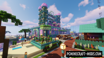 Coral Castle and City Map For Minecraft