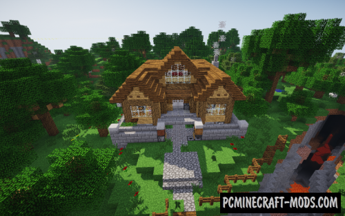 1 Chunk Redstone House Map For Minecraft