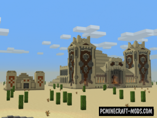 3:1 Desert Temple Map For Minecraft