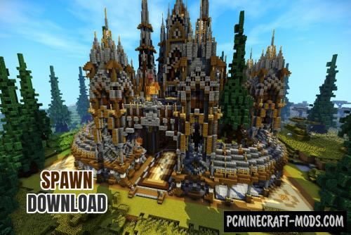 Factions Medieval Spawn/Hub/Lobby Map For Minecraft