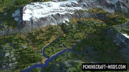 River Valley Custom Terrain Map For Minecraft