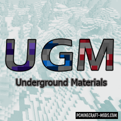 Underground Materials - Armor, Tools Mod For Minecraft 1.14.4
