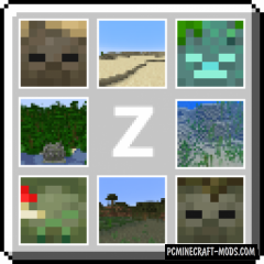 Pablo's Biome Zombies 16x Resource Pack For Minecraft 1.14.4