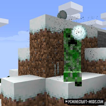 Snowballs Freeze Mobs - Weapon Mod For MC 1.16.4, 1.15.2