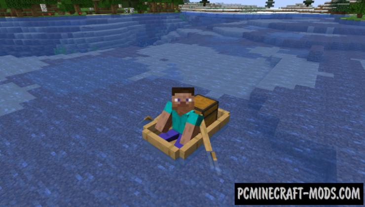 Extra Boats - Vanilla Vehicles Mod Minecraft 1.16.5, 1.16.4