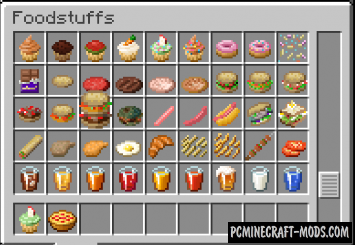 Xerca - New Tools, Food, Weapons Mod For MC 1.16.3, 1.15.2