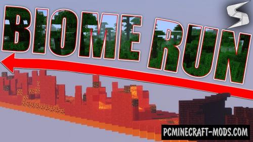 Biome Run 2 Map For Minecraft