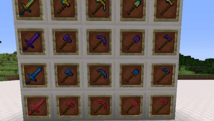 Underground Materials - Armor, Tools Mod For Minecraft 1.14.4