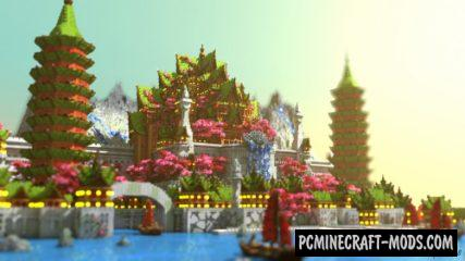 The Ancient Asian Civilization Map For Minecraft