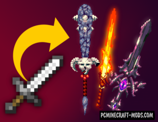3d Fantasy Weapons 16x Resource Pack For Minecraft 1.15, 1.14.4