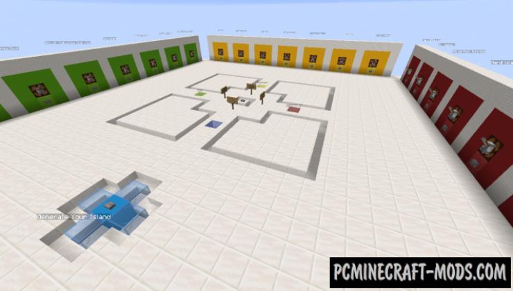 Custom SkyBlocks - Survival Map For Minecraft