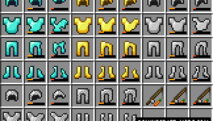 Visual Durability - Tools Tweak Resource Pack MC 1.15.2, 1.15.1
