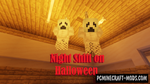 Night Shift on Halloween - Horror Map For Minecraft