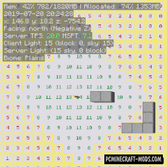 MiniHUD - Builder GUI/HUD Mod For Minecraft 1.17.1, 1.16.5