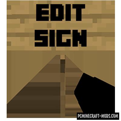 Edit Sign - Tweak Mod For Minecraft 1.16.5, 1.16.4, 1.15.2