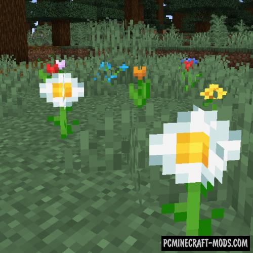 Random Bone Meal Flowers - Survival Mod MC 1.16.4, 1.15.2