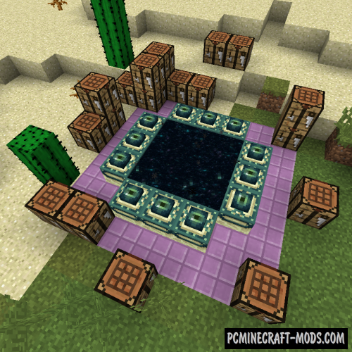 End Portal Recipe - New Block Mod For Minecraft 1.14.4, 1.13.2