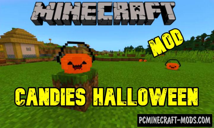 Candies Halloween Mod For Minecraft PE 1.17, 1.16