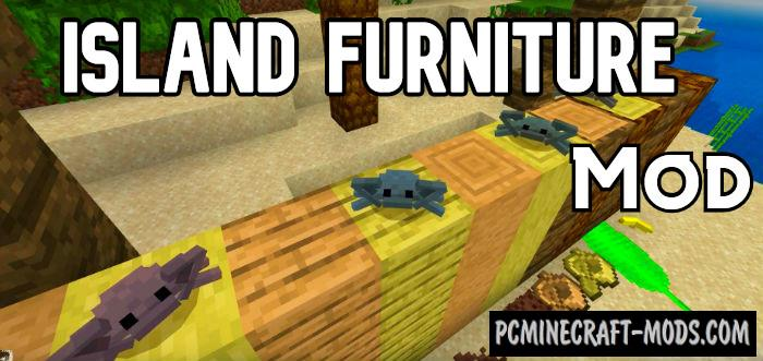 Island Furniture Minecraft Bedrock Mod 1.14, 1.13 iOS/Android