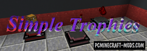 Simply Trophies - Decor Stand Mod For Minecraft 1.15.2, 1.14.4