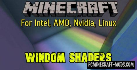 Windom Intel Shaders Pack For Minecraft 1.16.5, 1.16.4, 1.15.2