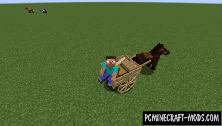 AstikorCarts - Horse Cart Mod For Minecraft 1.16.5, 1.12.2