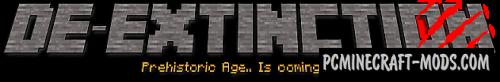 De-Extinction - Dinosaurs Creatures Mod For Minecraft 1.12.2