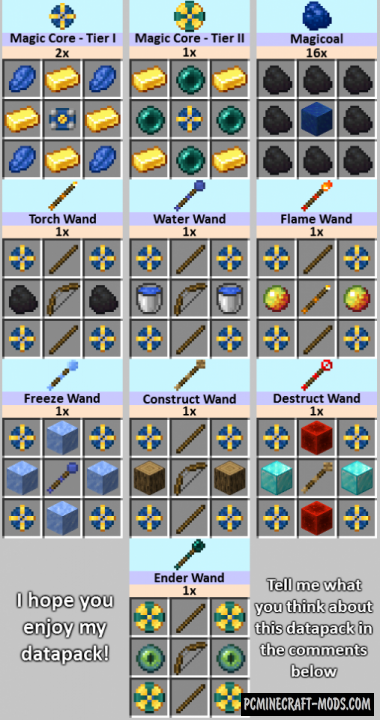 UsefulWands - Magic Data Pack For Minecraft 1.14.4