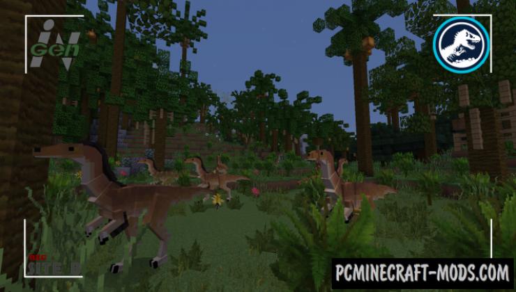 MineJurassic - Custom Creatures Mod For Minecraft 1.12.2