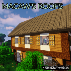 Macaw's Roofs - New Materials Mod For Minecraft 1.16.4, 1.15.2
