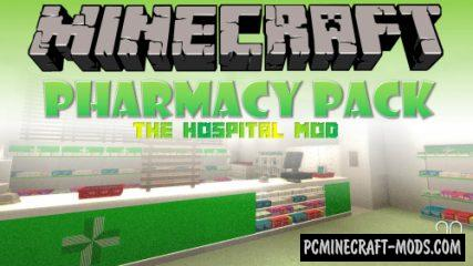 Hospital - Pharmacy Pack Mod For Minecraft 1.14.4, 1.12.2