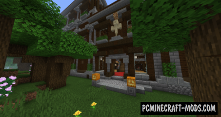 Fancier Mansions Data Pack For Minecraft 1.14.4